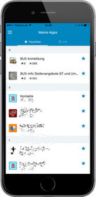LivingApps-App auf iOS oder Android