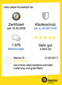 Trusted-Shop zertifiziert